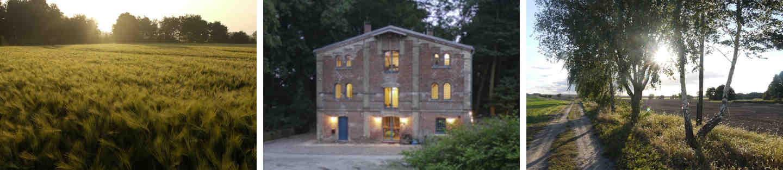 Umgebung der Breitenteicher Muehle Seminarhaus der Heldenreise von HeldenGestalt bei Berlin